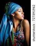 african black young woman... | Shutterstock . vector #727391962