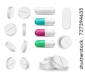Capsule Pills And Drugs Set...