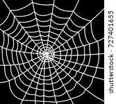 white spider web on dark... | Shutterstock .eps vector #727401655