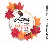 autumn sale banner with... | Shutterstock .eps vector #727404082