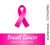 pink ribbon. breast cancer... | Shutterstock .eps vector #727410982