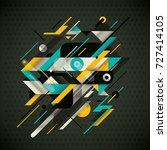 technology background design ... | Shutterstock .eps vector #727414105