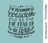 hand lettering the beginning of ... | Shutterstock .eps vector #727415086
