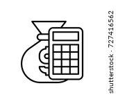 money calculation icon | Shutterstock .eps vector #727416562