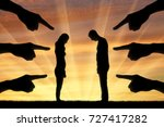 silhouette  humiliated the man... | Shutterstock . vector #727417282