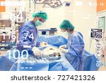 group of surgeons operating in... | Shutterstock . vector #727421326