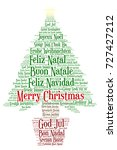 words cloud  merry christmas in ... | Shutterstock .eps vector #727427212