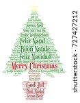 words cloud  merry christmas in ...   Shutterstock .eps vector #727427212