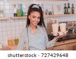 smiling african american... | Shutterstock . vector #727429648