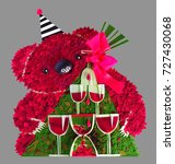 Small photo of A plastic panel is a wine bear that philosophizes about Earthly time - the New Year is a holiday or a burden, a loss of life or a finding of meaning in unearthly concepts