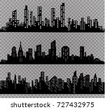 the silhouette of the city in a ... | Shutterstock .eps vector #727432975
