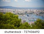 palma de mallorca view to yacht ...   Shutterstock . vector #727436692
