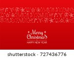 merry christmas   postcard with ... | Shutterstock .eps vector #727436776