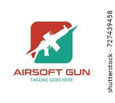 unique air soft gun logo | Shutterstock .eps vector #727439458