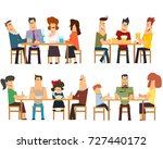different situations in the... | Shutterstock .eps vector #727440172