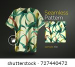 bright tropical seamless... | Shutterstock .eps vector #727440472