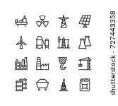 set of power industry icons | Shutterstock .eps vector #727443358