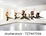 group of young dancers in studio | Shutterstock . vector #727447336