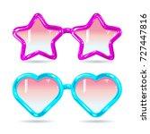glasses style disco glasses in... | Shutterstock .eps vector #727447816