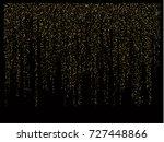 christmas sparkles  gold ... | Shutterstock .eps vector #727448866