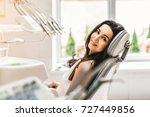 happy dental patient in the... | Shutterstock . vector #727449856
