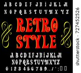 vector set of handwritten abc... | Shutterstock .eps vector #727452526
