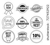 vector set labels. thin line... | Shutterstock .eps vector #727452922