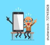 vector cartoon senior man and... | Shutterstock .eps vector #727453828