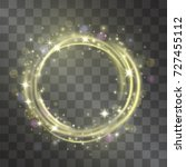 light effect with golden circle ... | Shutterstock .eps vector #727455112