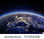 world globe   planet earth. 3d...   Shutterstock . vector #727455358