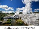 geyser in rotorua   Shutterstock . vector #727458268