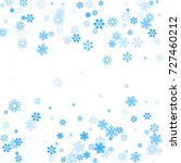 falling christmas snow on white.... | Shutterstock .eps vector #727460212