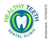 vector logo clinic dentistry... | Shutterstock .eps vector #727463272