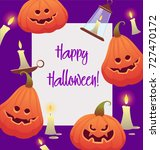 halloween vector illustration.... | Shutterstock .eps vector #727470172