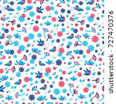 seamless pattern with winter... | Shutterstock .eps vector #727470376