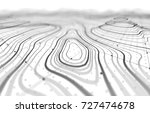 3d topographic map background... | Shutterstock . vector #727474678