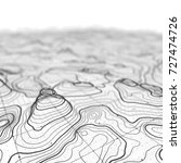 3d topographic map background... | Shutterstock . vector #727474726