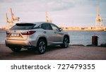 riga  april 2016   a lexus... | Shutterstock . vector #727479355
