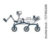 illustration of a moonwalker...   Shutterstock . vector #727482688