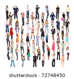 business men and women concept...   Shutterstock . vector #72748450