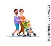 vector illustration gay couple... | Shutterstock .eps vector #727492726