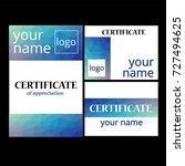 certificate vector | Shutterstock .eps vector #727494625