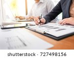 administrator business man... | Shutterstock . vector #727498156