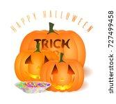 all hallows' eve  card.... | Shutterstock . vector #727499458