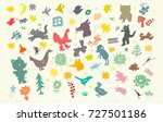 the symbolic image of animals... | Shutterstock .eps vector #727501186