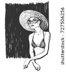vector linear illustration of...   Shutterstock .eps vector #727506256