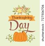 thanksgiving day card | Shutterstock .eps vector #727506706