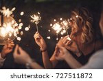 group of happy people holding... | Shutterstock . vector #727511872