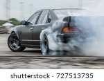 car drifting  sport car wheel... | Shutterstock . vector #727513735