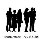 vector  silhouette family | Shutterstock .eps vector #727515805